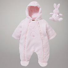 Buy Emile et Rose Fleece Pramsuit, Pink Online at johnlewis.com