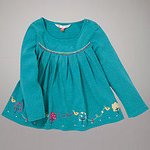 Buy John Lewis Bird Striped Swing Top, Blue Online at johnlewis.com