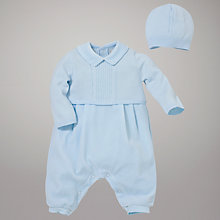 Buy Emile et Rose Knitted All in One with Hat, Blue Online at johnlewis.com
