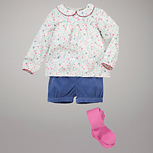 Buy John Lewis Woven Top, Corduroy Shorts and Tights Set, Multi Online at johnlewis.com