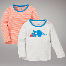 Buy John Lewis Baby Raccoon and Stripe T-Shirts, Pack of 2, Multi Online at johnlewis.com