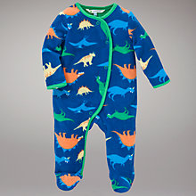 Buy John Lewis Dinosaur Sleepsuit, Blue/Multi Online at johnlewis.com