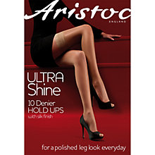 Buy Aristoc Ultra Shine 10 Denier Hold Up Tights, Black Online at johnlewis.com