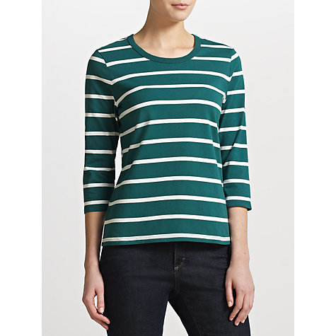 Buy Collection WEEKEND by John Lewis Striped Zip Back Top Online at johnlewis.com