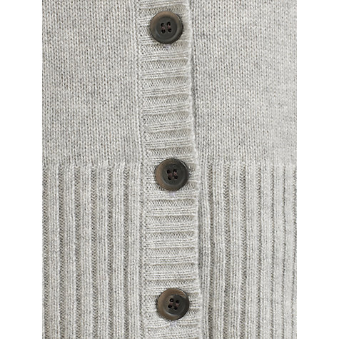 Buy Collection WEEKEND by John Lewis Crew Neck Cashmere Cardigan, Grey Online at johnlewis.com