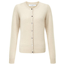Buy John Lewis Crew Neck Cashmere Cardigan, Natural Online at johnlewis.com