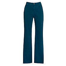Buy John Lewis Stretch Twill Straight Leg Jeans, Teal Online at johnlewis.com