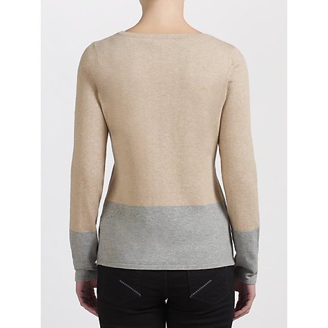 Buy John Lewis Colour Block Slashed Neck Top Online at johnlewis.com