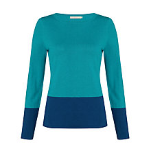 Buy John Lewis Colour Block Slash Neck Top Online at johnlewis.com