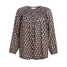 Buy Collection WEEKEND Isabel Smock Top, Navy Online at johnlewis.com