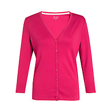 Buy John Lewis Plain Jersey Cardigan, Cranberry Online at johnlewis.com