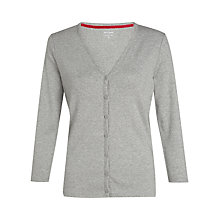 Buy John Lewis Jersey Cardigan, Grey Marl Online at johnlewis.com