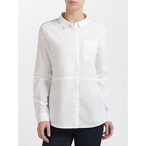 Buy Kin by John Lewis Seamed Shirt, White Online at johnlewis.com