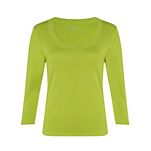 Buy John Lewis Triple Trim Neck 3/4 Sleeve Top Online at johnlewis.com