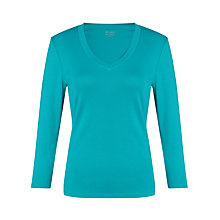 Buy John Lewis 3/4 Sleeve V-Neck Top Online at johnlewis.com