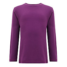 Buy John Lewis Boy Long Sleeved Top, Purple Online at johnlewis.com