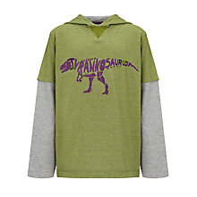 Buy John Lewis Boy Dinosaur Hooded Top Online at johnlewis.com