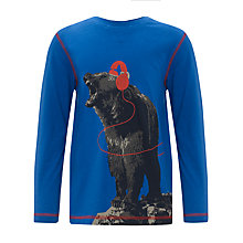 Buy John Lewis Boy Long Sleeve Bear Top, Blue Online at johnlewis.com
