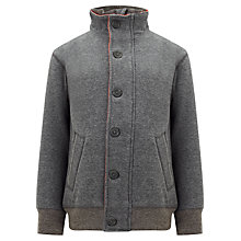 Buy John Lewis Boy Bomber Sweatshirt, Grey Online at johnlewis.com