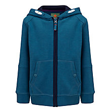 Buy John Lewis Boy Zip Through Hoodie, Teal Online at johnlewis.com