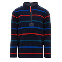 Buy John Lewis Boy Stripe Zip Neck Fleece, Navy Online at johnlewis.com