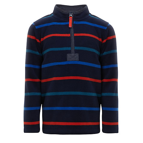 Buy John Lewis Boy Striped Zip Neck Fleece Online at johnlewis.com