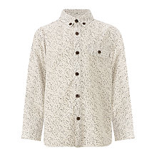 Buy Kin by John Lewis Boys' Printed Shirt, Cream Online at johnlewis.com