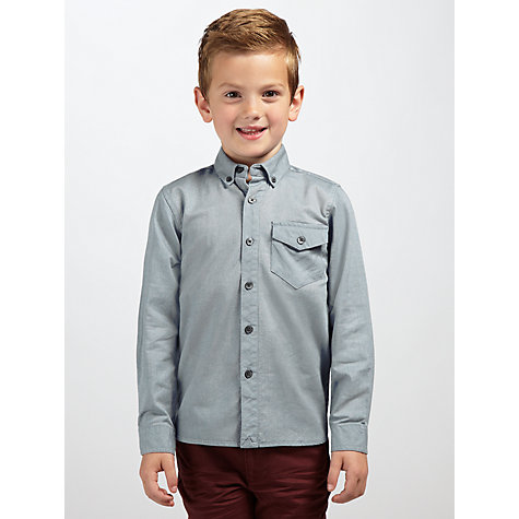 Buy Kin by John Lewis Boys' Plain Twill Shirt, Blue Online at johnlewis.com