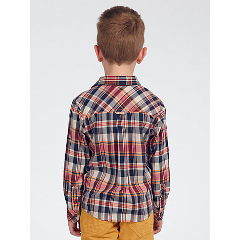 Buy John Lewis Boy Hooded Check Shirt Online at johnlewis.com