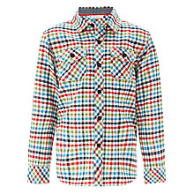 Buy John Lewis Boy Tatershal Check Shirt, Multi Online at johnlewis.com
