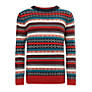 John Lewis Boy Fair Isle Stripe Jumper, Multi