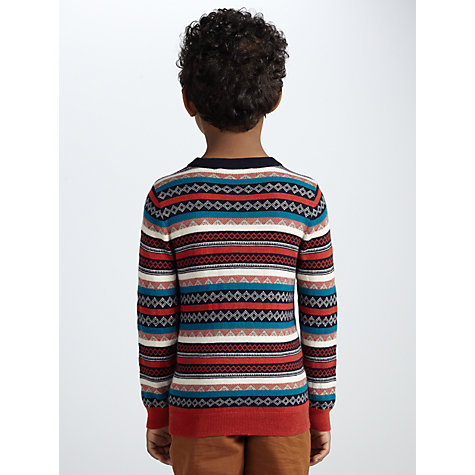 Buy John Lewis Boy Fair Isle Stripe Jumper, Multi Online at johnlewis.com
