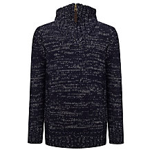 Buy John Lewis Boy Turtle Neck Jumper, Navy Online at johnlewis.com