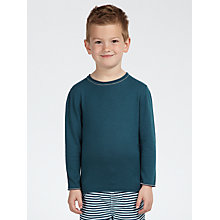 Buy Kin by John Lewis Boys' Crew Neck Jumper, Teal Online at johnlewis.com