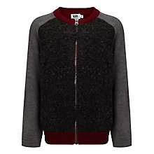 Buy Kin by John Lewis Boys' Boucle Knit Jumper, Grey/Red Online at johnlewis.com