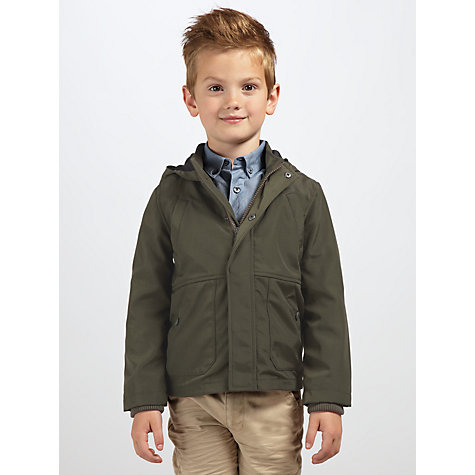 Buy Kin by John Lewis Boys' Hooded Jacket, Khaki Online at johnlewis.com