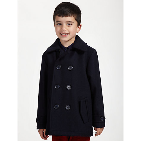 Buy John Lewis Heirloom Collection Wool Pea Coat, Navy Online at johnlewis.com