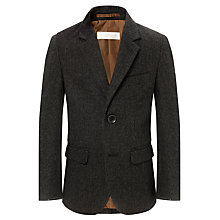 Buy John Lewis Heirloom Collection Small Check Blazer, Dark Grey Online at johnlewis.com