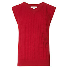 Buy John Lewis Heirloom Collection V-Neck Cable Knit Tank Top Online at johnlewis.com