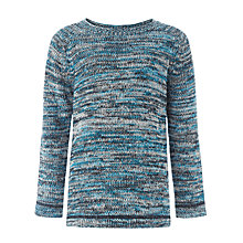 Buy Kin by John Lewis Twisted Yarn Crew Neck Jumper, Blue/Multi Online at johnlewis.com