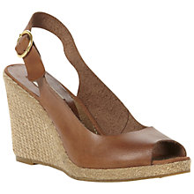 Buy Dune Gleeful Peep Toe Espadrille Slingback Wedge Sandals Online at johnlewis.com