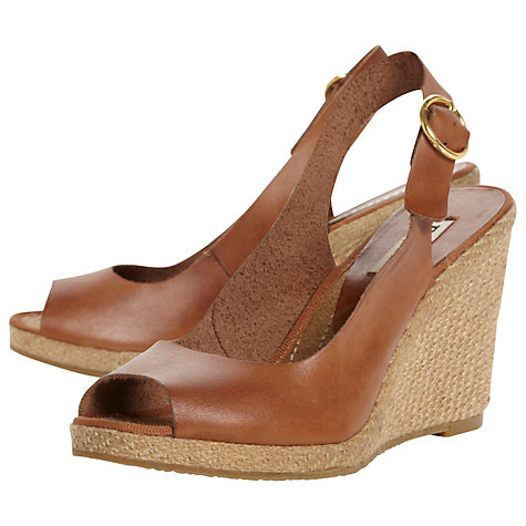 Buy Dune Gleeful Peep Toe Wedge Sandal Online at johnlewis.com