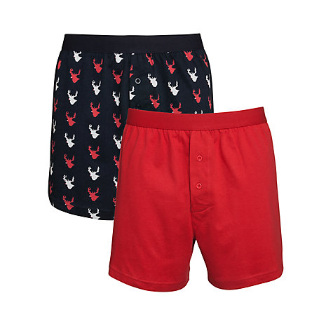Buy John Lewis Novelty Reindeer Print Trunks, Pack Of 2 Online at johnlewis.com