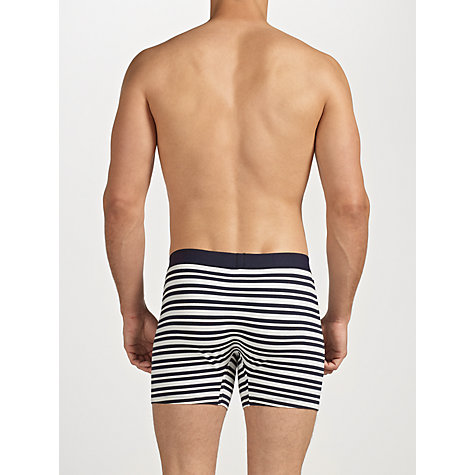 Buy John Lewis Stripe and Plain Cotton Trunks, Pack of 3, Multi Online at johnlewis.com