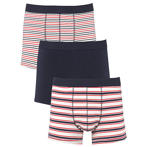 Buy John Lewis Plain and Stripe Trunks, Pack of 3 Online at johnlewis.com