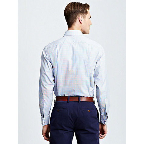 Buy Thomas Pink Sholto Check Shirt, Blue Online at johnlewis.com