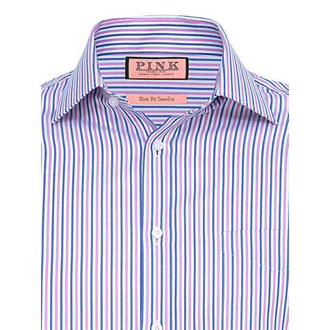 Buy Thomas Pink Vere Stripe Long Sleeve Shirt Online at johnlewis.com