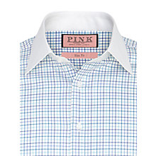 Buy Thomas Pink Sykes Check Long Sleeve Shirt, Blue/White Online at johnlewis.com