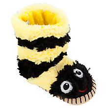 Buy Hatley Bee Slippers, Yellow/Black Online at johnlewis.com