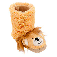 Buy Hatley Lion Slippers, Orange Online at johnlewis.com